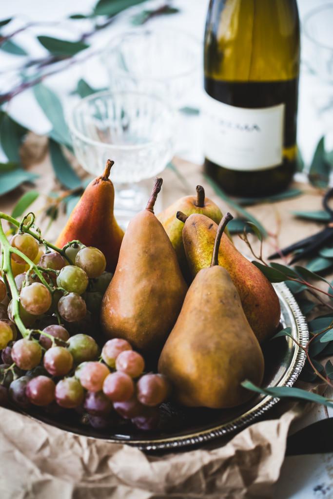 Jasmine White Wine Poached Pears