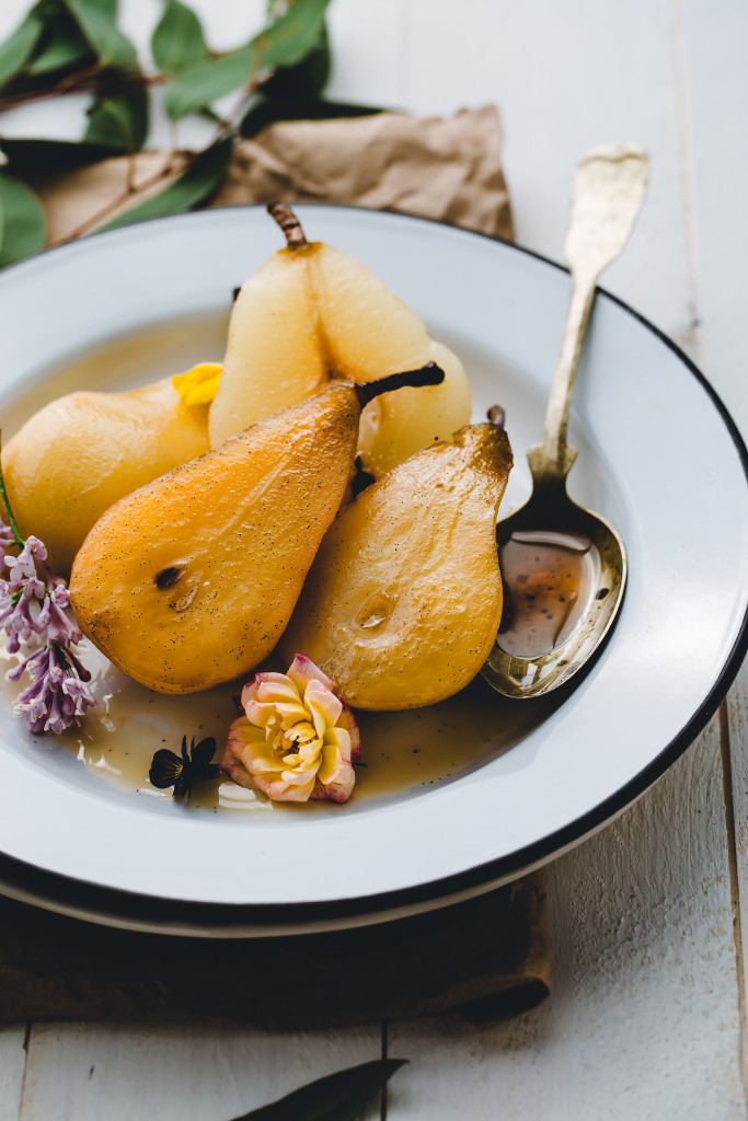 Simple and delicious Jasmine White Wine Poached Pears