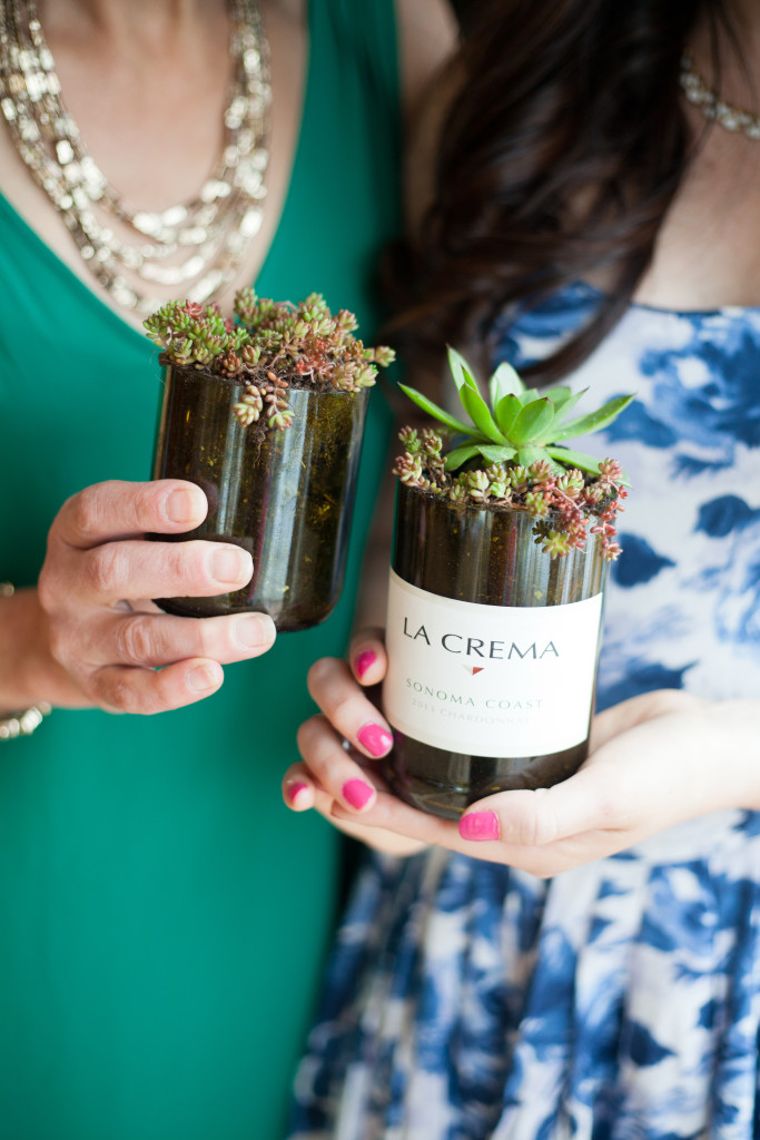 craft ideas for wine bottles diy wine bottle succulent planters 6269