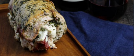 Prosciutto, Mozzarella & Sage Pesto Stuffed Pork Tenderloin