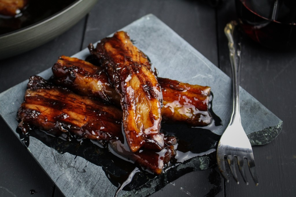Red Wine Caramelized Pork Belly
