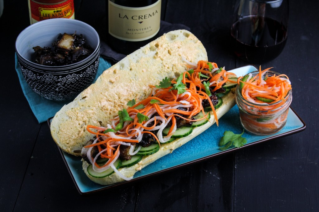 Pork Belly Banh Mi: One of our favorite Pork and Pinot pairings