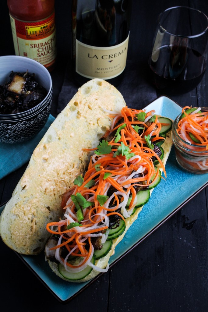Pork Belly Banh Mi: Colorful and flavorful