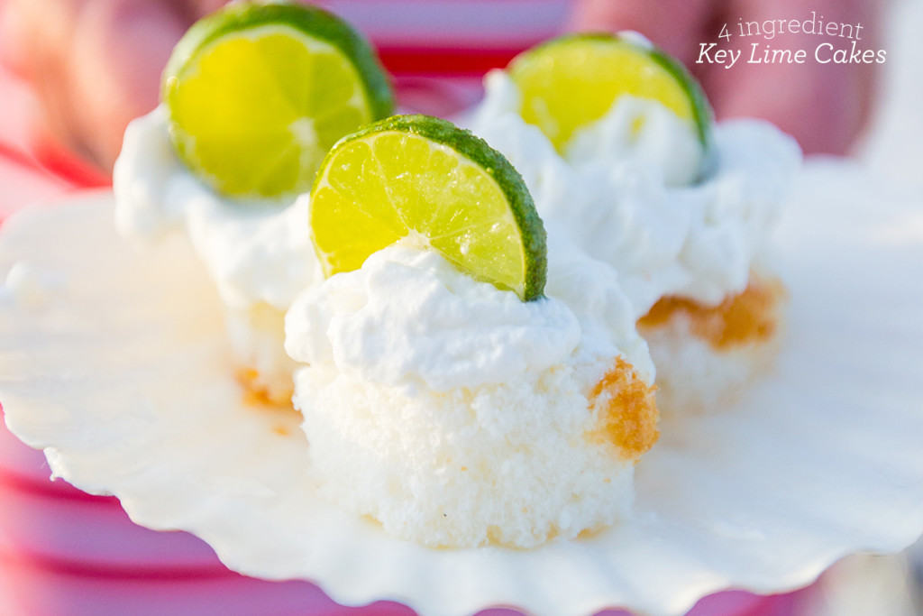 4 Ingredient Key Lime Cakes- these are so delicious!