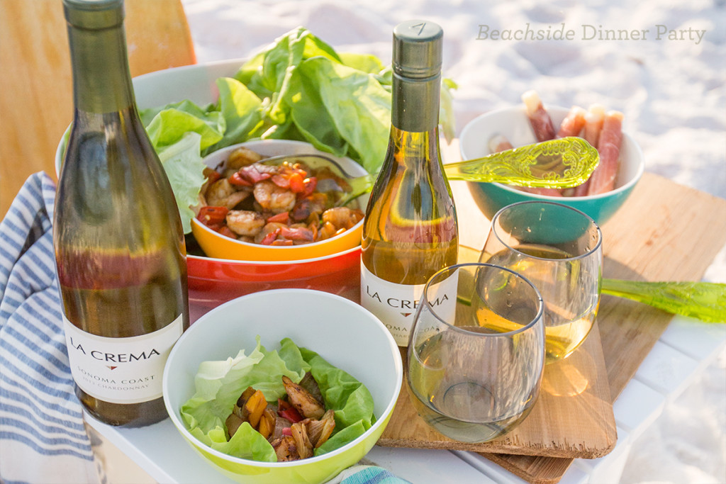 Beachside dinner party- I love this easy, fun menu for entertaining!
