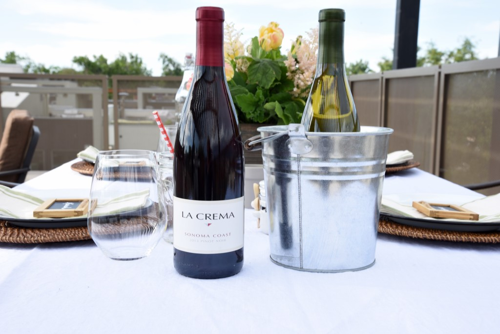 I love the La Crema Pinot Noir and Chardonnay as a go-to for any dinner party.