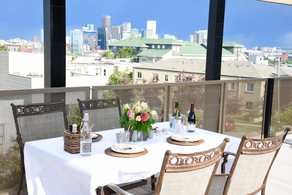 The palate creates a fresh and fun backdrop from which to enjoy the spectacular views of Denver!