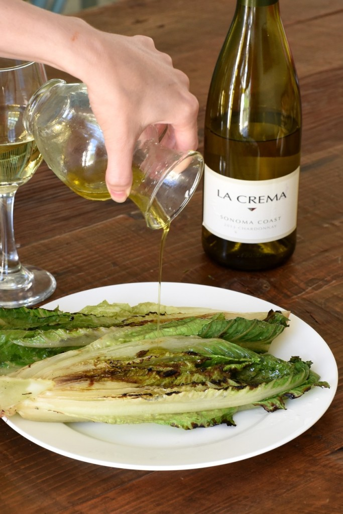 Grilled Romaine Salad with Extra Virgin Olive Oil