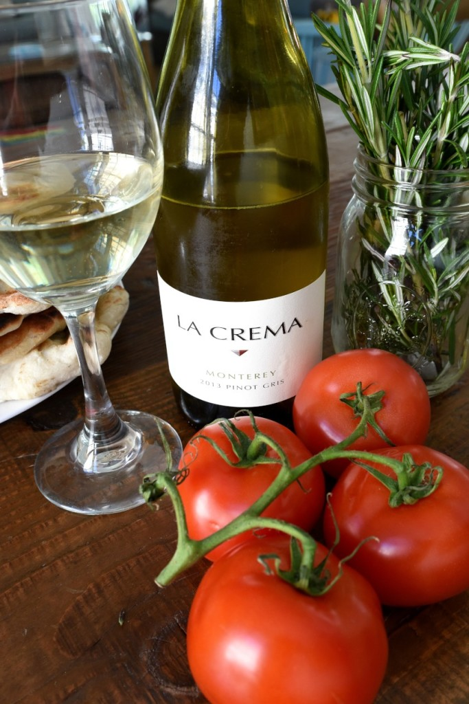 Tomatoes and wine and rosemary