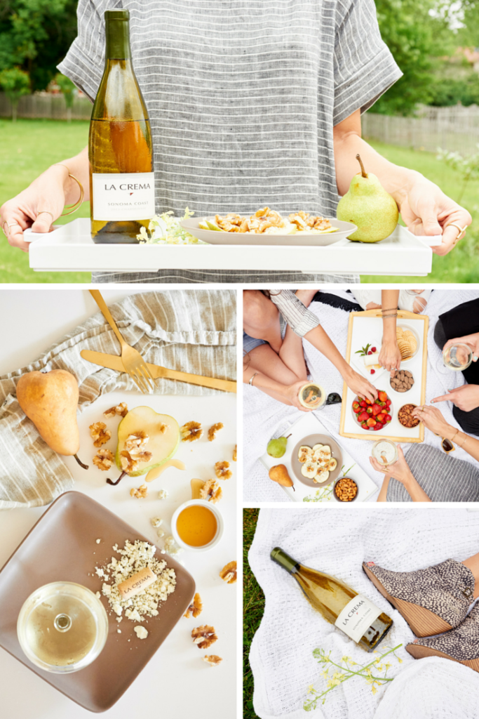 Pear gorgonzola collage