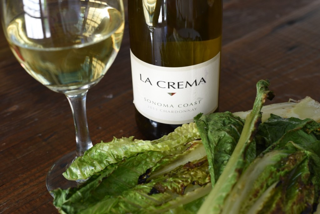Grilled Romaine Salad and White Wine