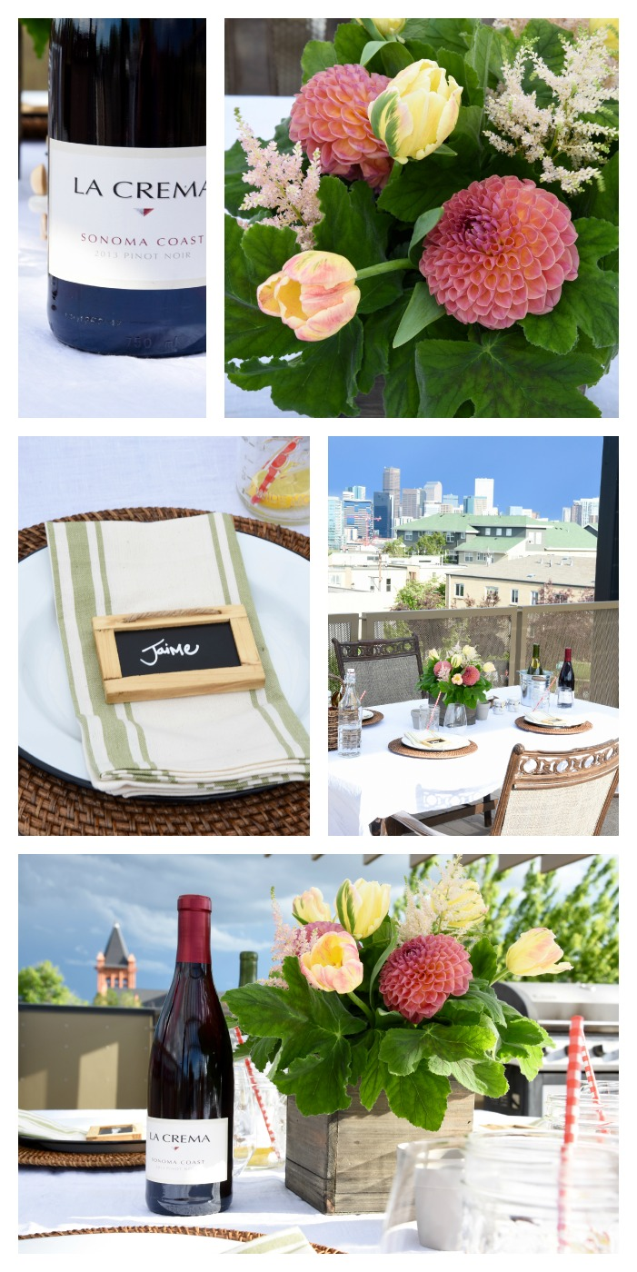 A summer rooftop BBQ full of bright colors and beautiful views!