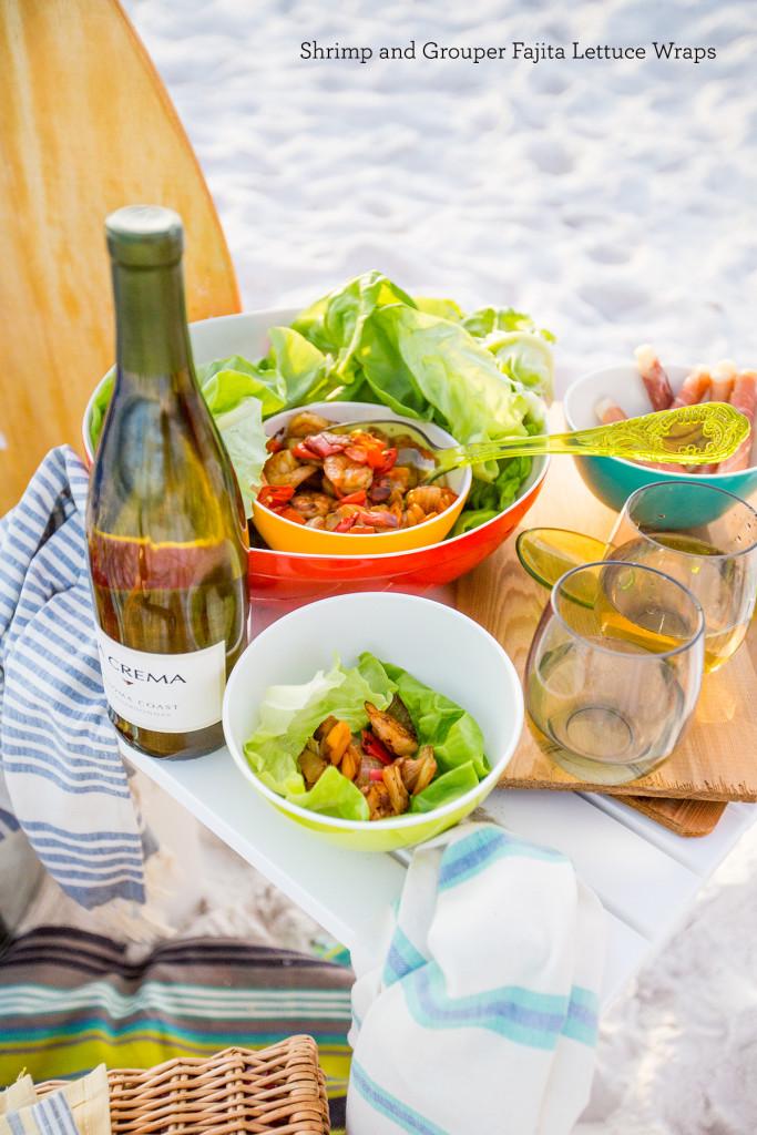Shrimp and Grouper Fajita Lettuce Wraps- these are so delicious!