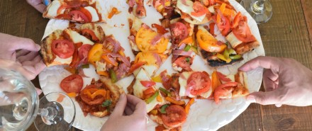 A Homemade Grilled Pizza Party