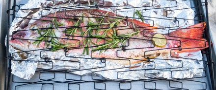 Grilled Whole Gulf Snapper with Rosemary and Lime