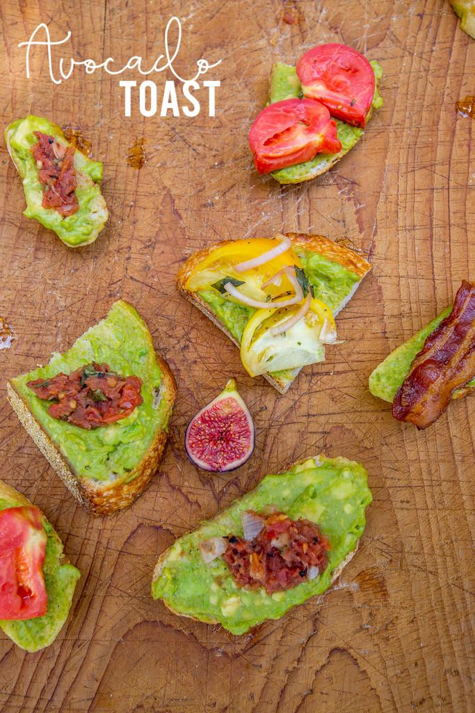 Wine tasting brunch - Avocado Toast