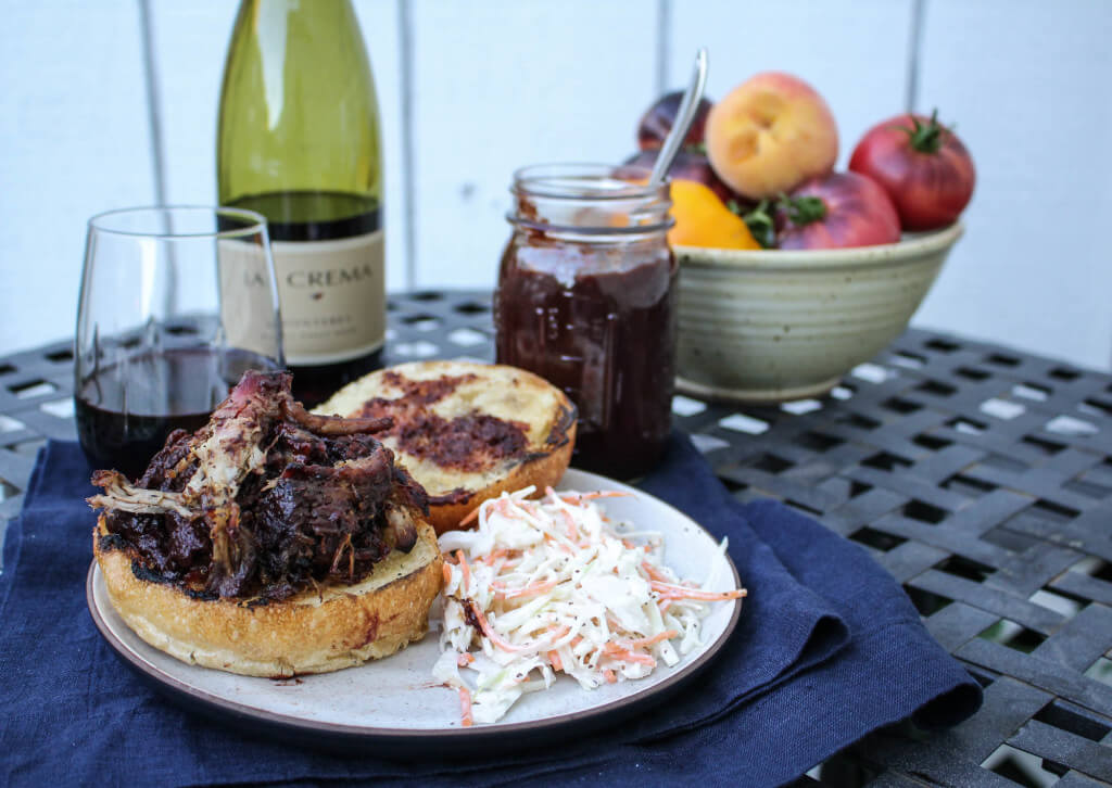 Pulled Pork with Blackberry Pinot BBQ Sauce