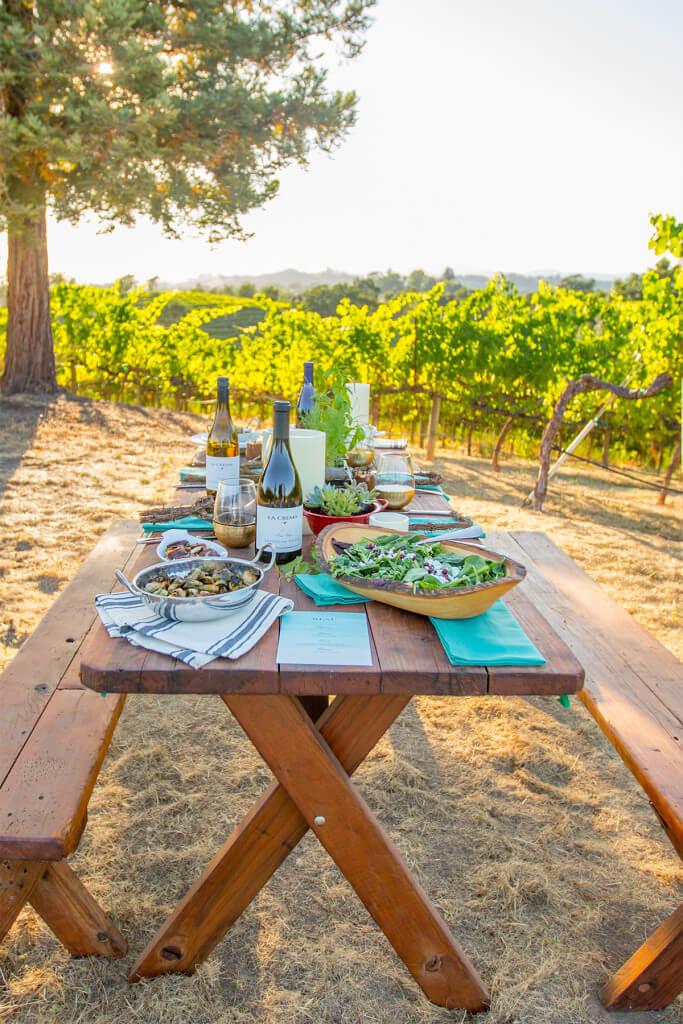 Love this vineyard side wine dinner- so beautiful