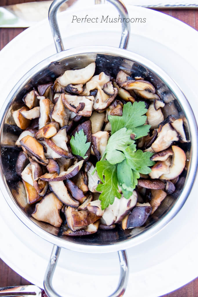 Perfect sauteed mushrooms- the most delicious way to make mushrooms ever!
