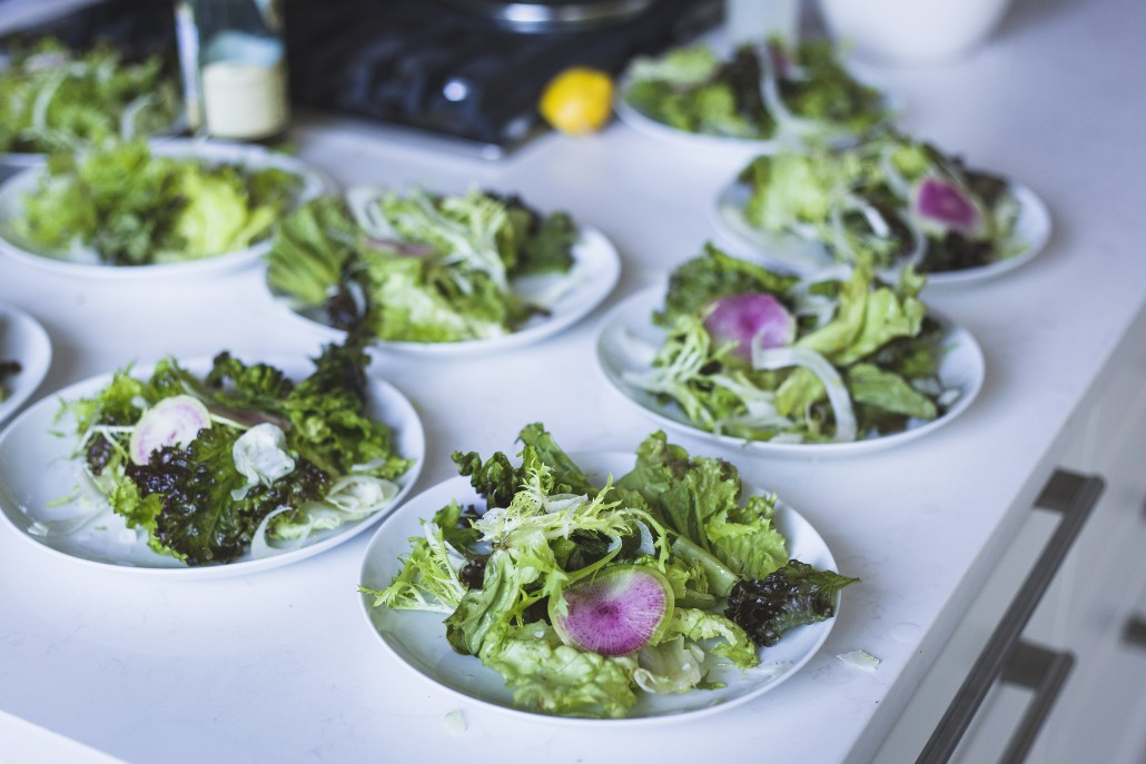 Mixed Greens Salad with Shaved Fennel and Radishes