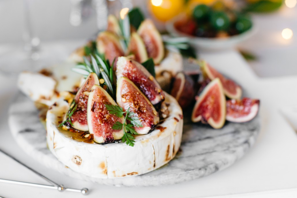 Baked Brie with Figs, Walnuts, and Ancho Chili Honey - La Crema