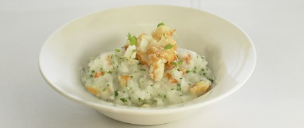 Crab Risotto with Fine Herbs