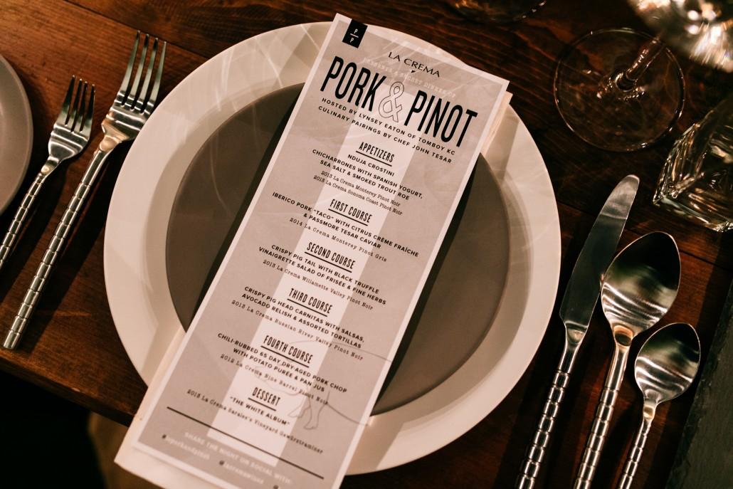 pork and pinot
