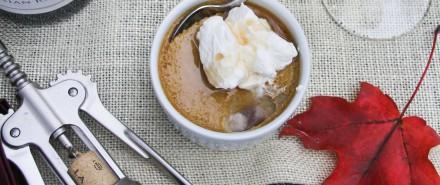 Harvest Pumpkin Dinner: Pumpkin-Vanilla Pot de Cremes