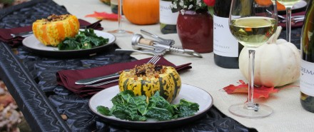 Stuffed Pumpkins with Middle Eastern Beef and Couscous
