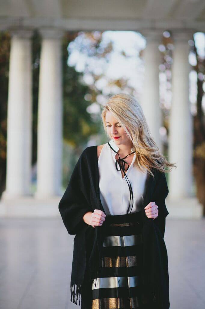 party attire - try a cape instead of a coat