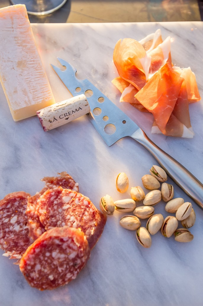 Snacks on a marble cutting board - perfect for entertaining