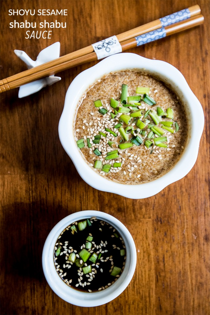 shoyu sesame shabu shabu sauce- this is the most delicious asian inspired dipping sauce!