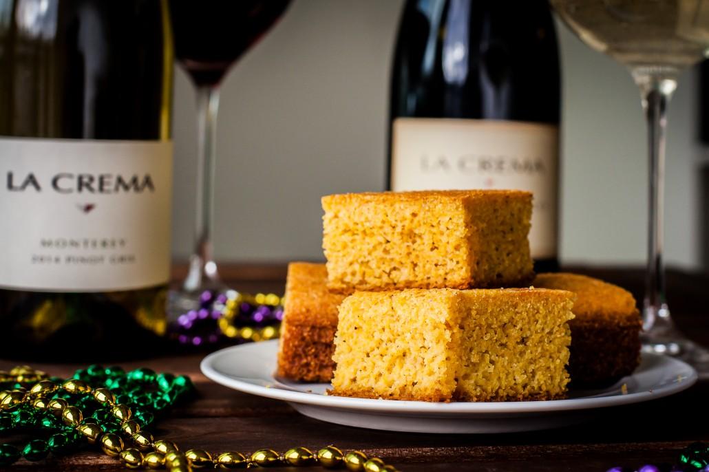 Mardi Gras Southern-Style Cornbread   La Crema