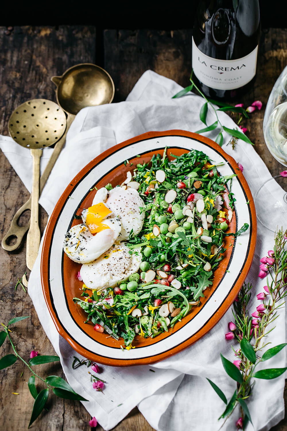 Fresh Prince of Brunch: Spring Greens, Edible Flowers & Poached Eggs