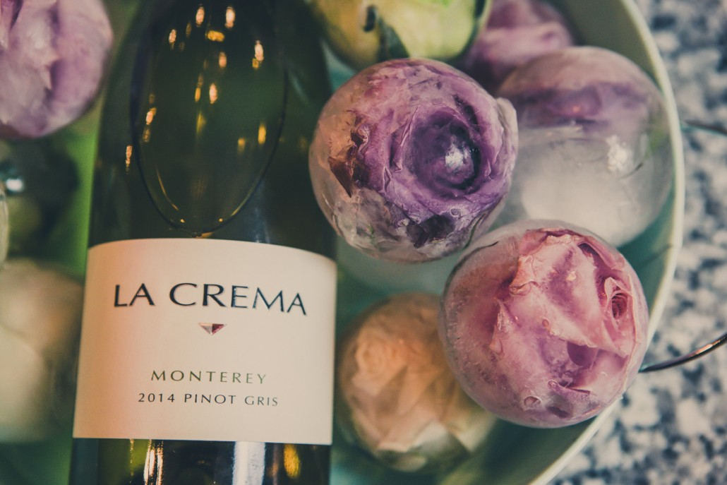 La Crema Pinot Gris with floral ice