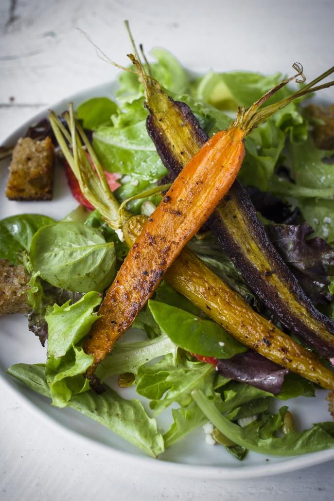 Spiced Carrot Salad with Charred Orange Vinaigrette