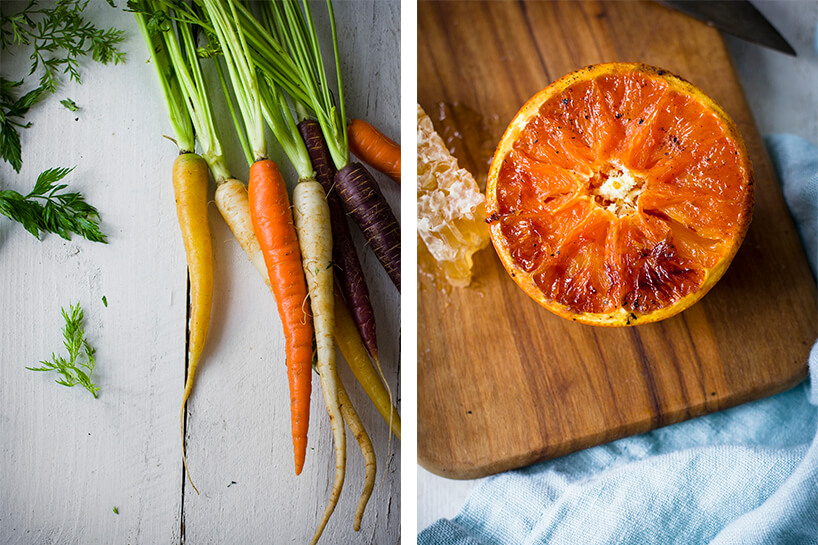 Spiced Carrot Salad with a Charred Citrus Vinaigrette