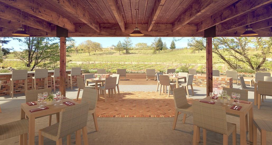 La Crema at Saralee's Vineyard - Rendering of the Deck View