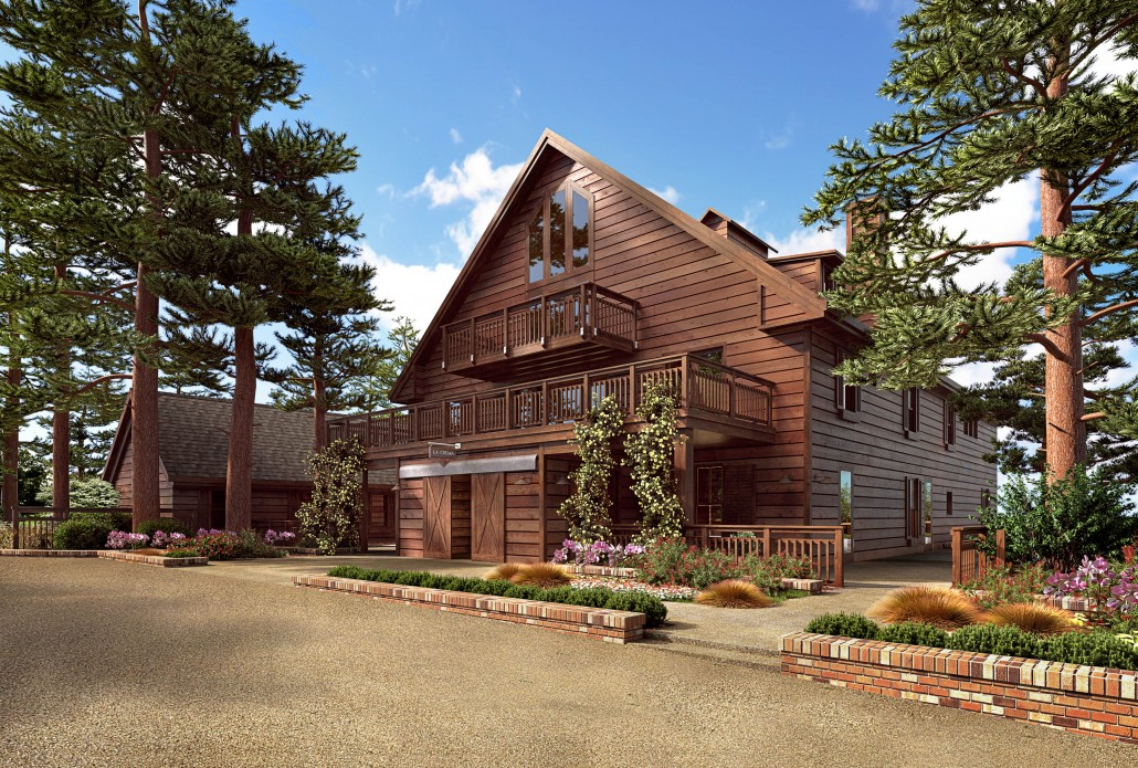 La Crema at Saralee's Vineyard: Rendering of the Outdoor View of the Barn