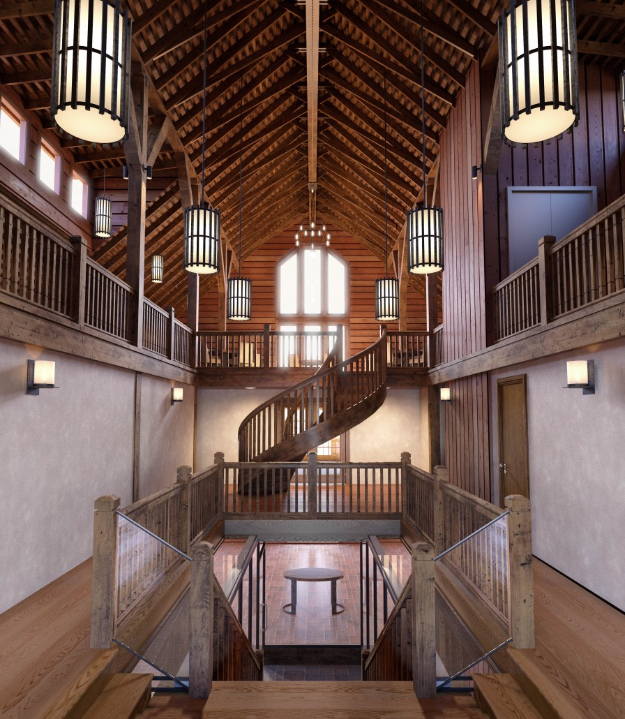 La Crema at Saralee's Vineyard: Rendering of the Upstairs Loft.