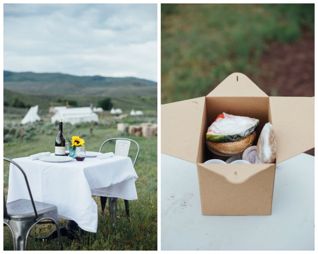 Glamping with delicious outdoor meals