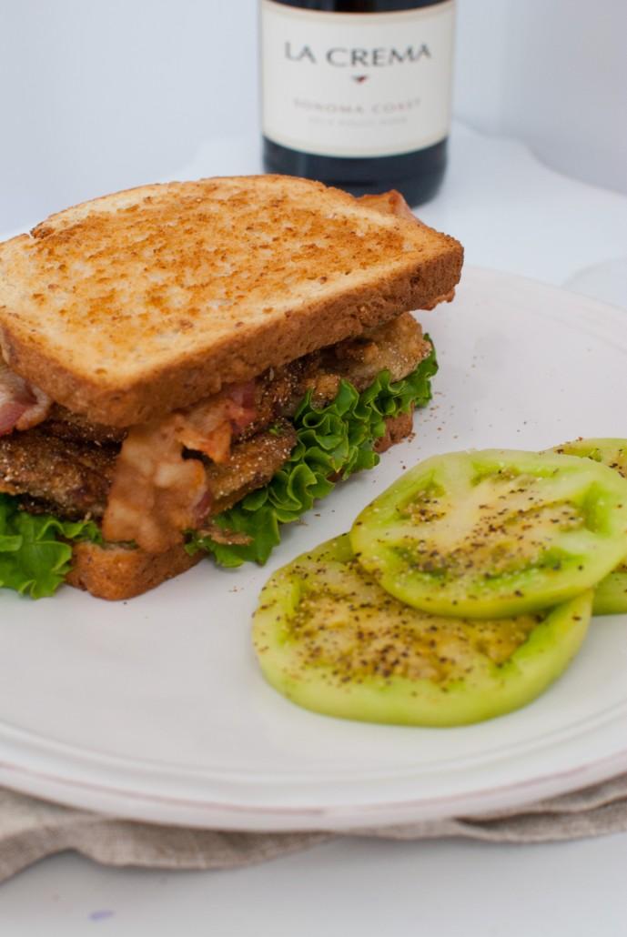 Southern Fried Green Tomato BLT - La Crema