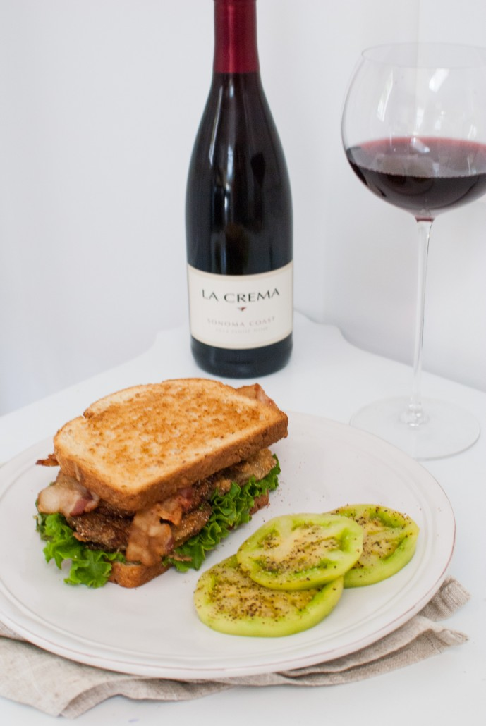 Fried Green Tomato BLT paired with La Crema Sonoma Coast Pinot Noir