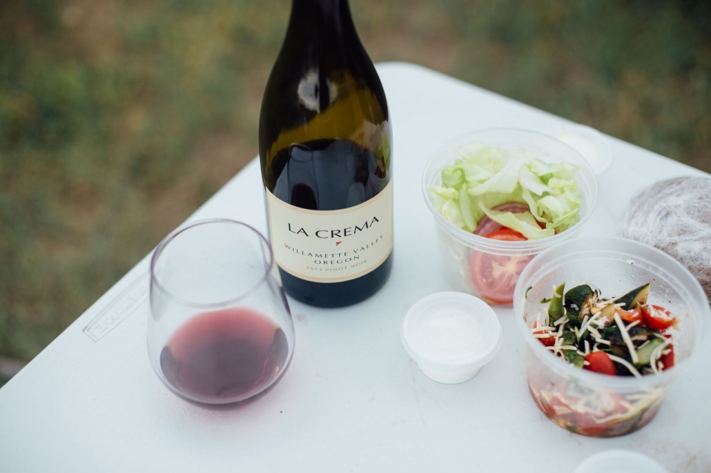 Glamping with La Crema Willamette Valley Pinot Noir