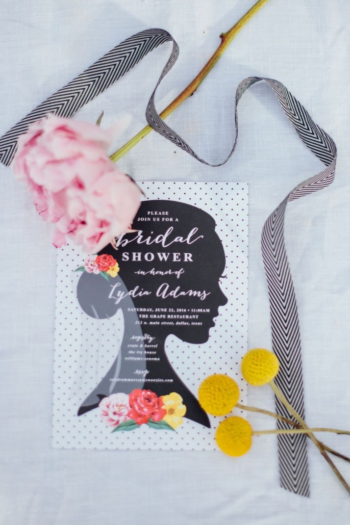 Invitations for a bridal shower