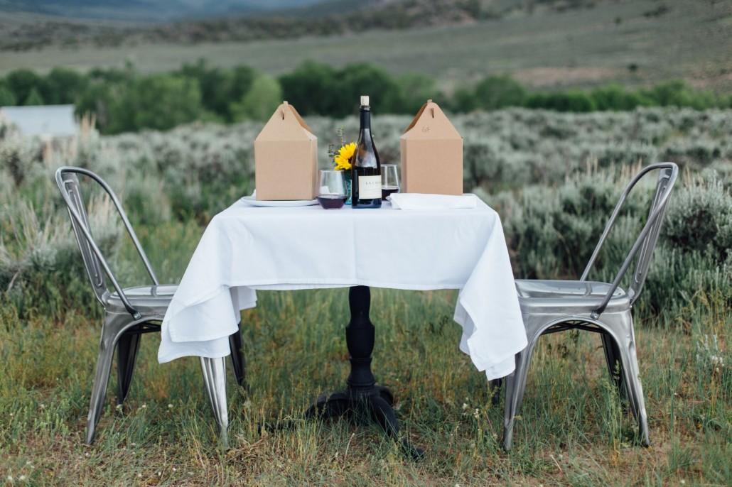 Glamping picnic