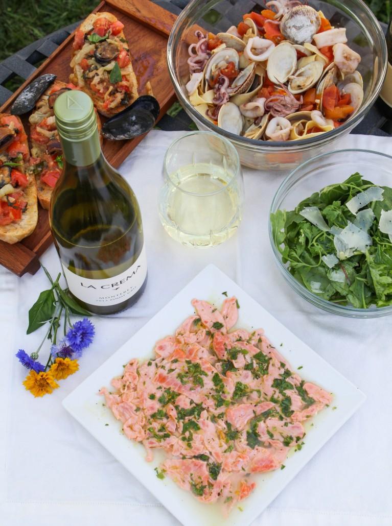 Italian-Style Salmon Carpaccio