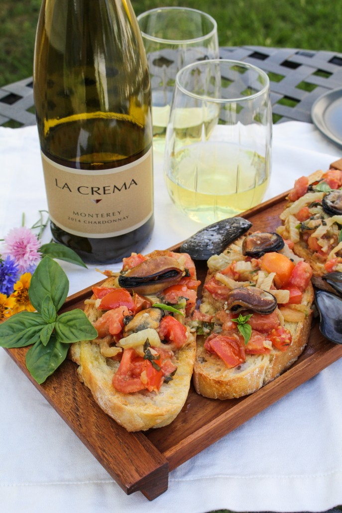 Italian Seafood Dinner: Mussels Bruschetta