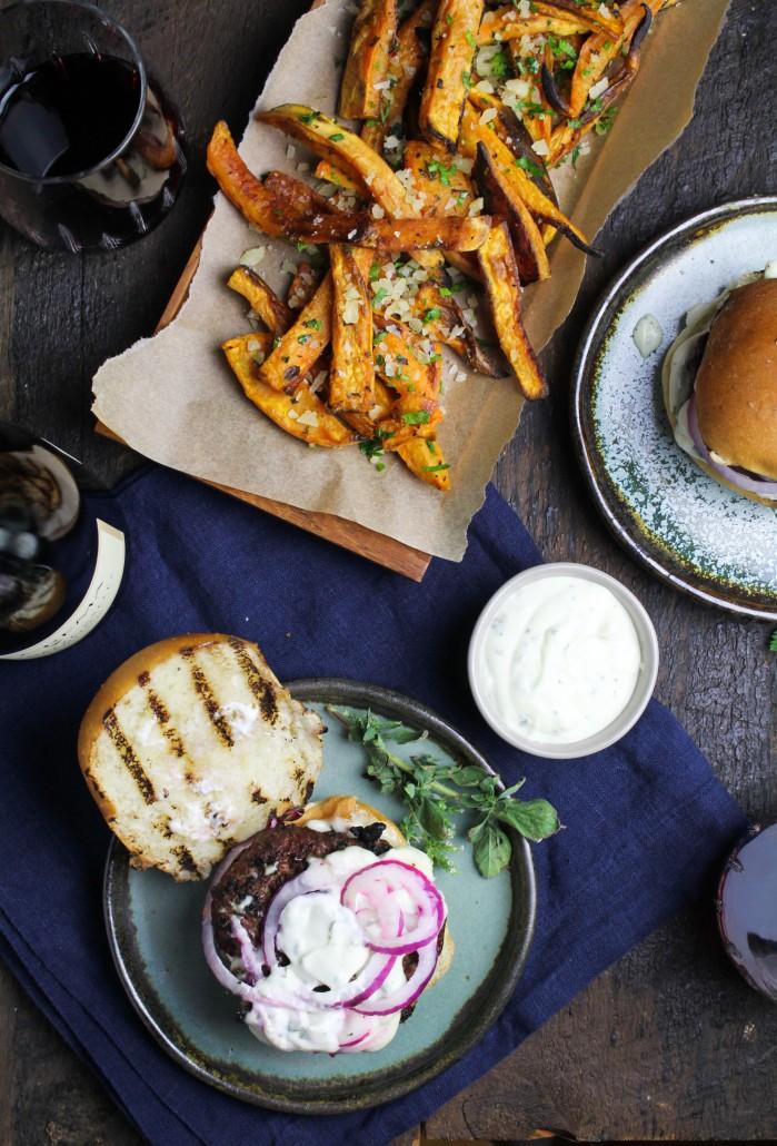 Greek Lamb Burgers with Lemon Garlic Aioli