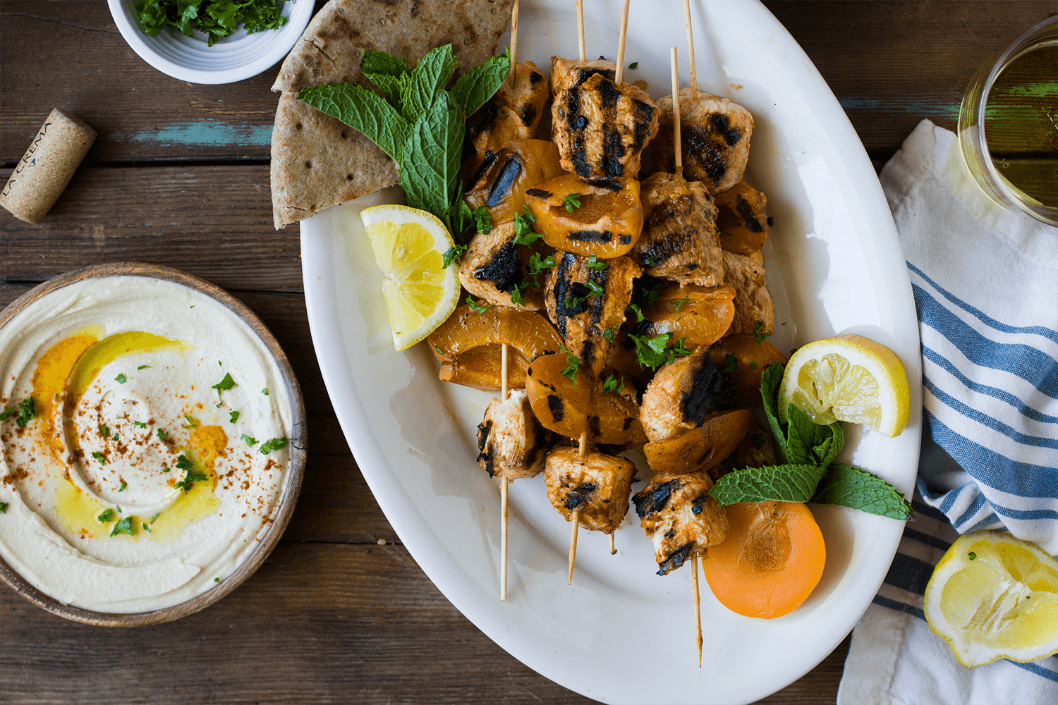 Top 14 Summer Recipes Roundup: Yogurt Marinated Apricot Chicken Skewers